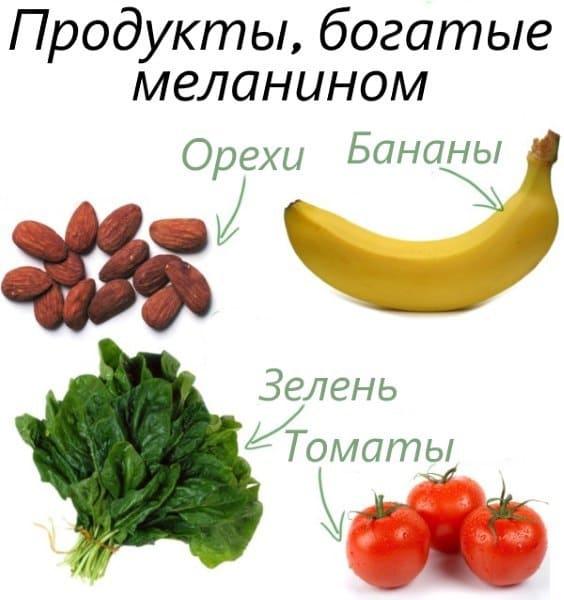 продукты, богатые меланином